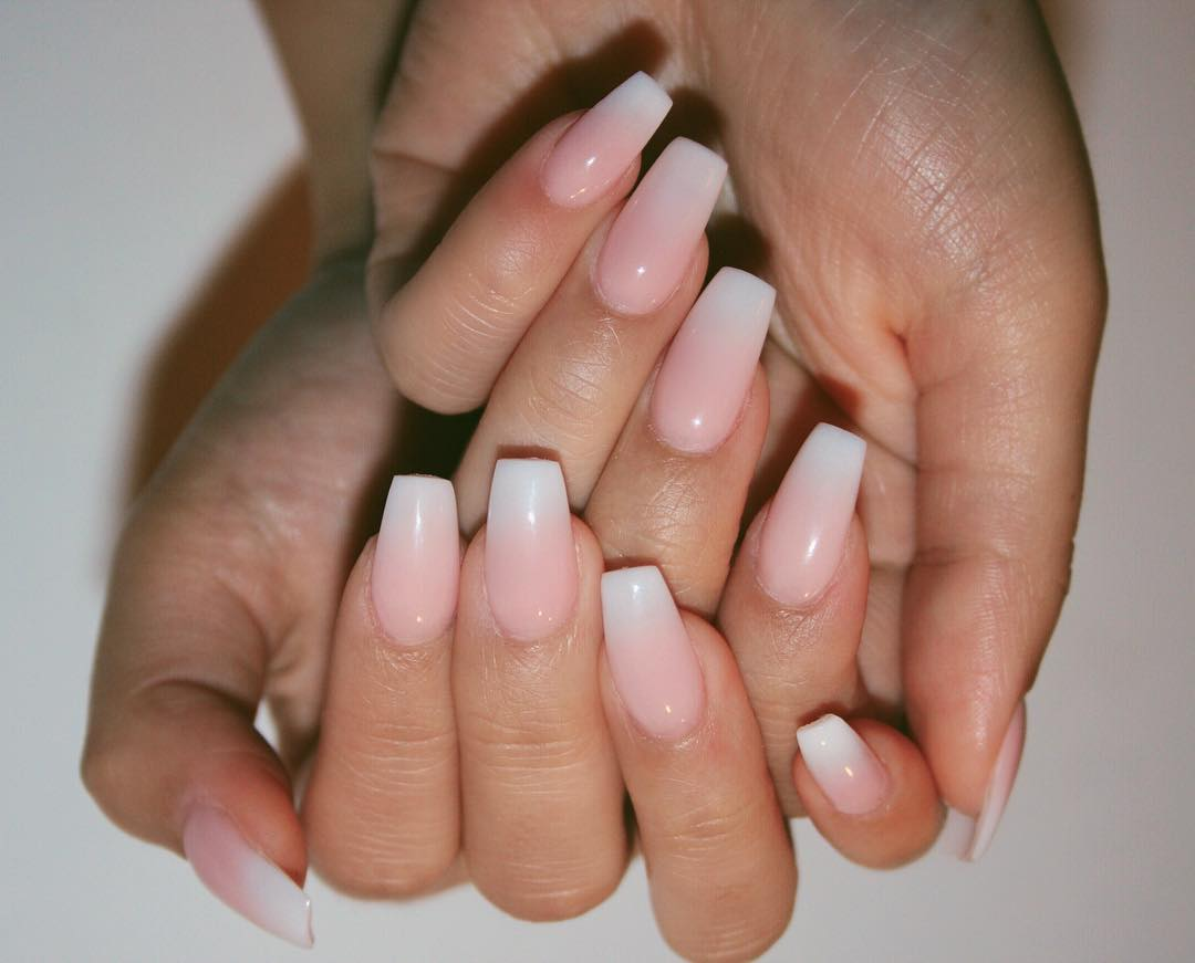 Latest French Tip Nail Art Designs Imarninails Classic French Fade Major Mag