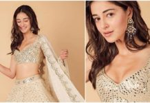 ananya_panday_in_abhinav_mishra mirror work lehenga - latest pics