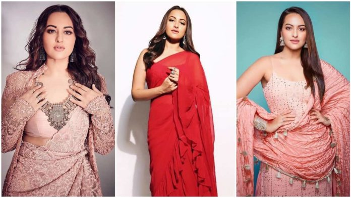 Sonakshi Sinha latest and best saree looks - best ethnic wear bollywood